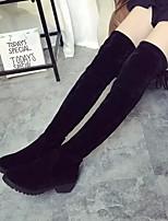 Для женщин Ботинки Удобная обувь Полиуретан Весна Повседневные Удобная обувь Черный Серый На плоской подошве