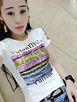 Damen Druck Street Schick Strand T-shirt,Rundhalsausschnitt Kurzarm Baumwolle