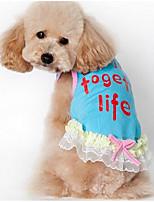 Hunde Kleider Hundekleidung Sommer Prinzessin Niedlich Lässig/Alltäglich Modisch Blau Rosa