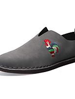 Черный Оранжевый Серый-Для мужчин-Для прогулок Повседневный-ПолиуретанУдобная обувь-Кеды