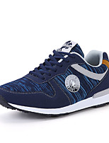 Men's Sneakers Comfort Tulle Spring Fall Casual Walking Comfort Lace-up Flat Heel Gray Blue Flat