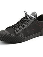 Men's Sneakers Spring Fall Comfort PU Outdoor Flat Heel Lace-up Red Black Walking