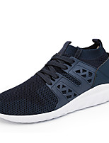 Men's Sneakers Comfort Tulle Spring Summer Athletic Casual Outdoor Comfort Lace-up Flat Heel Black Gray Blue Flat
