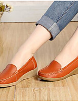 Women's Sneakers Spring Moccasin Comfort Leather Casual