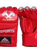 Boxing Gloves for Boxing Fingerless Gloves Protective Nylon Leather