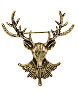 Dámské Chlapci Další Brože Zvířecí Euramerican Retro Přizpůsobeno Pozlacené Slitina Animal Shape Šperky Pro Denní Ležérní