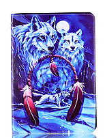 Para el ipad de la manzana mini 4 3 2 1 cubierta del caso cubierta del lobo tarjeta de patrón stent PU material cubierta de protección
