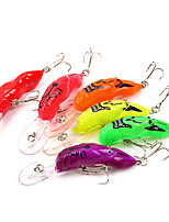 6 pcs Hard Bait Fishing Lures Hard Bait Assorted Colors g/Ounce,85 mm/3-5/16