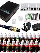 Solong Tattoo Augenbrauen Kit dauerhafte Make-up Maschine Tattoo 23 Tinte Nadel ek709-1