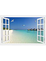 3D Wall Stickers Wall Decals Style Beach Gull PVC Wall Stickers