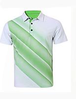 Homens Manga Curta Golfe Camiseta Polo Respirável Confortável Redutor de Suor Branco Laranja Amarelo Golfe Esportes Relaxantes