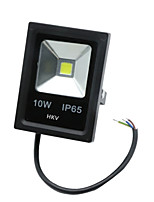 1 pcs hkv® 10w 850-950lm 2800-3200k 6000-6500k projecteur led blanc froid blanc chaud (ac 85-265v)