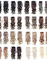 Ponytail Hairpieces 22inch 100g Synthetic Hair Extensions Drawstring Long Wave As Pictures Colors