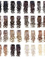 Конские хвосты шиньоны 22inch 100г синтетические наращивания волос drawstring длинная волна как картинки цвета