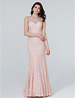 TS Couture Formal Evening Dress - See Through Trumpet / Mermaid Jewel Floor-length Lace with Crystal Detailing