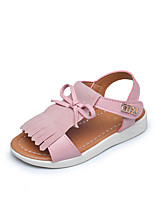 Girls' Sandals Summer Gladiator Comfort Leatherette Outdoor Office & Career Party & Evening Casual Flat Heel Magic TapeBlushing Pink