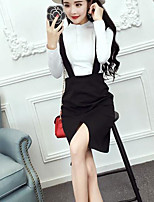Women's Casual/Daily Sophisticated Hoodie Skirt Suits,Print U Neck Short Sleeve