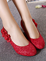 Women's Flats Spring Comfort PU Wedding Red