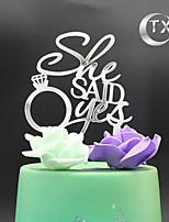 Figurky na svatební dort Nepřizpůsobeno Monogram Akryl Svatba Klasický motiv OPP