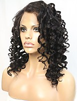 New Style Loose Curly Brazilian Virgin Hair Lace Front Wig With Illusion Hairline