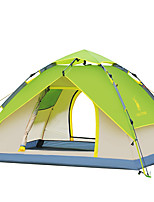 3-4 persons Tent Double Automatic Tent One Room Camping Tent >3000mm Fiberglass OxfordMoistureproof/Moisture Permeability Waterproof
