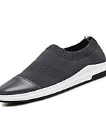 Men's Sneakers Comfort Light Soles Tulle Spring Summer Casual Outdoor Walking Comfort Light Soles Flat Heel Black Gray Flat