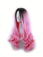 HIT Black with Rose Red Beauty Natural Cosplay Wig Heat Resistant