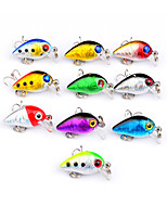 10 pcs Hard Bait Crank Fishing Lures Crank Lure Packs Hard Bait Multicolored g/Ounce,30 mm/1