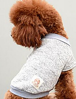 Dog Coat Dog Clothes Winter Solid Cute Fashion