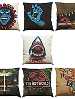 Set of 7 Santa Cruz Pattern Linen  Cushion Cover Home Office Sofa Square  Pillow Case Decorative Cushion Covers Pillowcases As a Gift