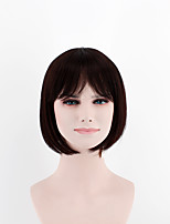 Fashion lady short paragraph wigs black in the sub-Liuhai straight hair high-temperature wire wig