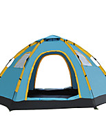5-8 personnes Tente Unique Tente automatique Une pièce Tente de camping 1000-1500 mm Fibre de verre OxfordRésistant à l'humidité Etanche