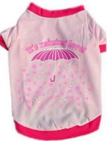 Chien Gilet Vêtements pour Chien Eté Fleur Mignon Mode Décontracté / Quotidien Rouge Rose
