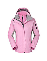 Women's 3-in-1 Jackets Waterproof Breathable Thermal / Warm Windproof Fleece Lining Winter Jackets