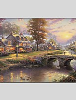 Oil Paintings Modern Landscape Canvas Material With Wooden Stretcher Ready To Hang Size50*70CM and 60*90CM .