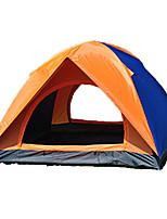 2 человека Световой тент Двойная Складной тент Однокомнатная Двухкомнатная Палатка <1000mm Стекловолокно ОксфордВлагонепроницаемый