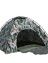 3-4 personnes Tente Double Tente pliable Une pièce Tente de camping 2000-3000 mm Fibre de verre Oxford Etanche Portable-Randonnée Camping-