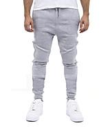 Homme Course / Running Respirable Eté Sport de détente Coton Mince Vêtements de Plein Air Athleisure Noir Gris Classique