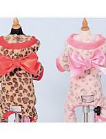 Собаки Плащи Одежда для собак Милые Мода Цветовые блоки Коричневый Розовый