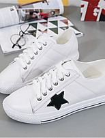 Women's Flats Spring Comfort PU Canvas Casual Black White