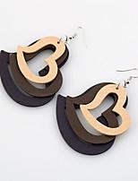 Boucles d'oreilles Bijoux Mode euroaméricains Simple Style Bois Bijoux Pour Mariage Soirée Anniversaire 1 paire