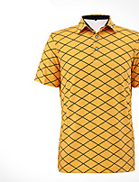 Homme Manches courtes Golf T-shirt POLO Hauts/Tops Respirable Design Anatomique Doux Confortable Jaune Vert Bleu Golf Sport de détente
