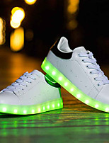 Unisex Sneakers Spring Summer Light Up Shoes Comfort Luminous Shoe Light Soles Leatherette Outdoor Casual Flat Heel LED
