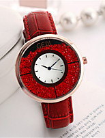 Women's Fashion Watch Japanese Quartz Water Resistant / Water Proof Genuine Leather Band Unique Creative Cool Casual Black White Red Pink