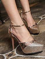Damen-High Heels-Outddor Lässig-Kunststoff-Stöckelabsatz-Komfort-