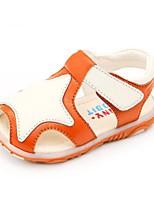 Boys' Baby Sandals Hole Shoes Sheepskin Summer Casual Hole Shoes Flat Heel Yellow Blue Flat