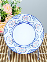 High temperature Porcelain Dining Bowl Dinnerware Flower with Tribal Flower print
