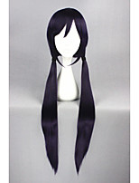 Long straight love live! -tojo nozoimi roxo&Preto 40inch anime cosplay peruca cs-181e