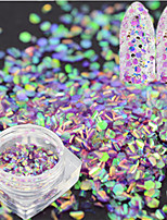 1 Bottle Fashion Sweet Nail Art Glitter Light Purple Fish Scale Slice Decoration Laser Nail Art Mermaid Hexagon Paillette Glitter Thin Slice LP09
