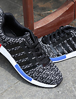 Men's Sneakers Summer Fall Comfort Fabric Outdoor Casual Flat Heel Black